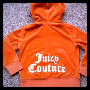 Juicy couture pumpkin orange zip up hooded jacket